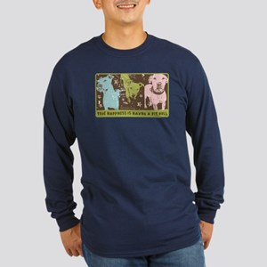 Vintage Pop Art Long Sleeve Dark T-Shirt
