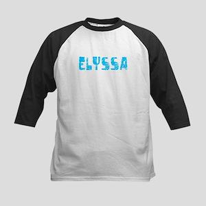 Elyssa Faded (Blue) Kids Baseball Jersey