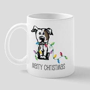 Pit Bull Christmas Lights Mug