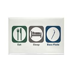 Eat Sleep Bass Flute Rectangle Magnet