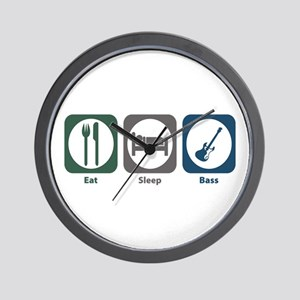 Eat Sleep Bass Wall Clock