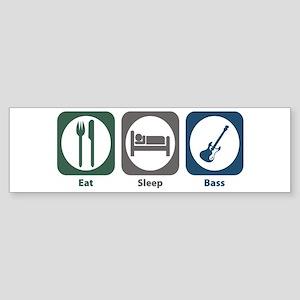 Eat Sleep Bass Bumper Sticker