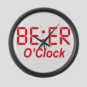 BEER O' Clock Men Women Funny Gif Large Wall Clock
