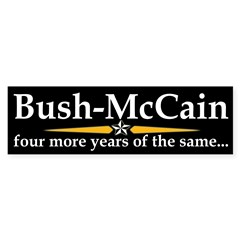 Bush-McCain, the Same Bumper Bumper Sticker