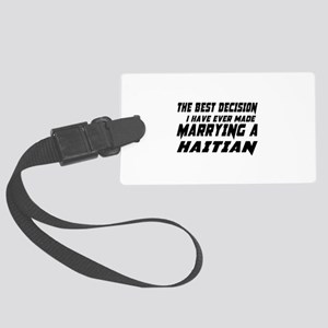 Marrying Haitian Country Large Luggage Tag