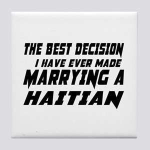 Marrying Haitian Country Tile Coaster