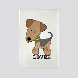 Airedale Lover Rectangle Magnet