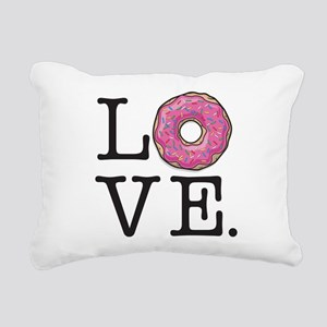 Donut Love Funny Food Hu Rectangular Canvas Pillow