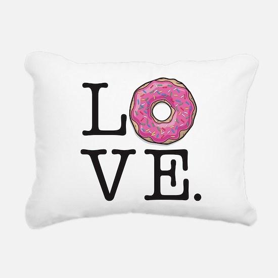 Donut Love Funny Food Hu Rectangular Canvas Pillow