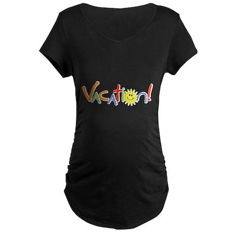 Summer Vacation Maternity Dark T-Shirt