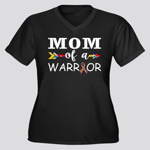 Mom Of A Warrior Autism Awarenes Plus Size T-Shirt