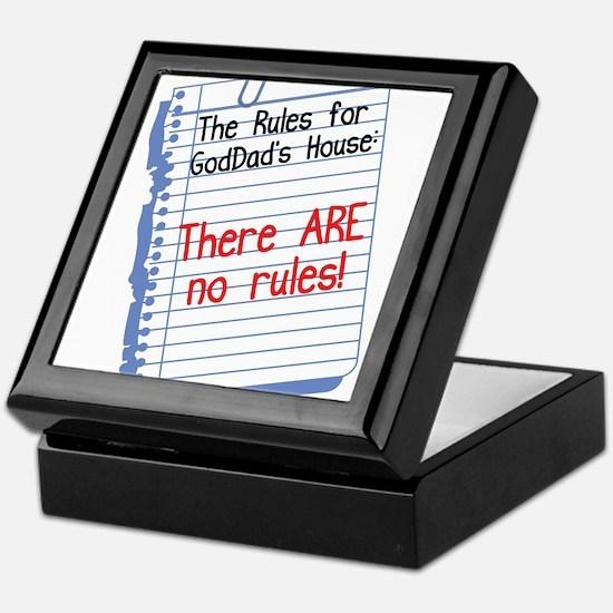No Rules at GodDad's House Keepsake Box