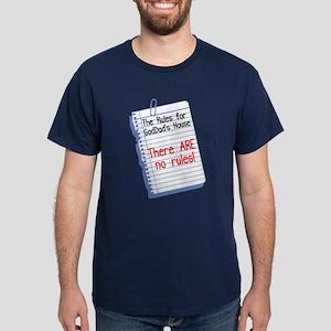 No Rules at GodDad's House Dark T-Shirt