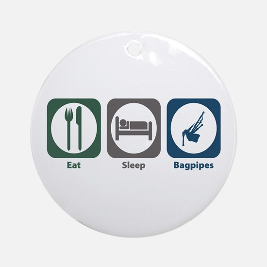 Eat Sleep Bagpipes Ornament (Round)
