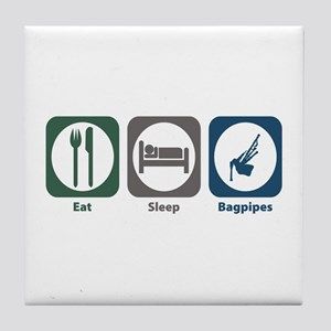 Eat Sleep Bagpipes Tile Coaster