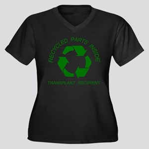 Recycled Parts Inside Women's Plus Size V-Neck Dar