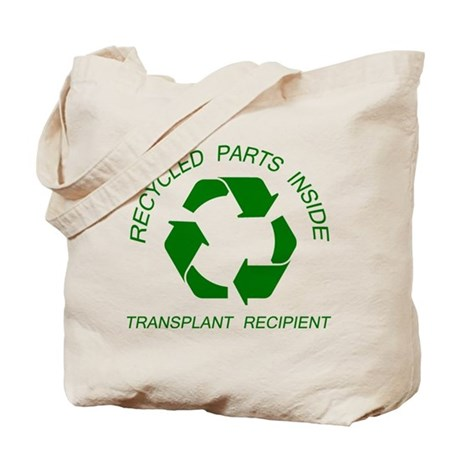 Recycled Parts Inside Tote Bag