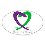 Healing Hug Oval Sticker (10 pk)