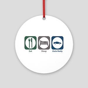 Eat Sleep Auto Body Ornament (Round)