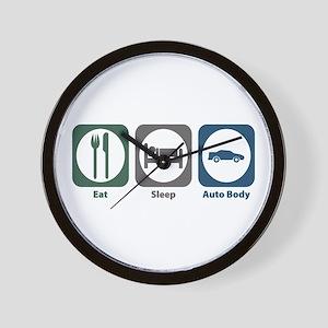 Eat Sleep Auto Body Wall Clock