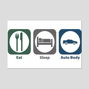 Eat Sleep Auto Body Mini Poster Print