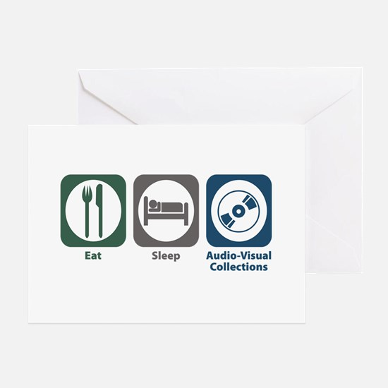 Eat Sleep Audio-Visual Collections Greeting Card