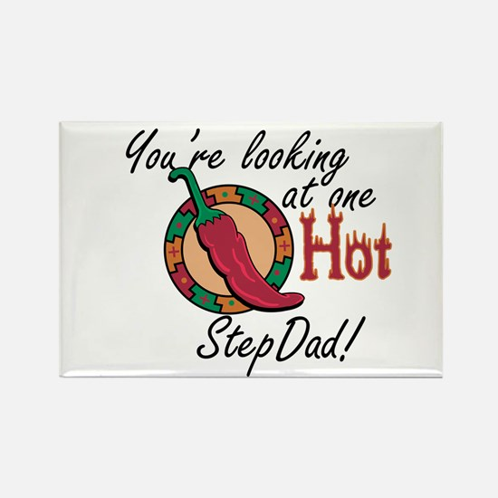 Looking at One Hot StepDad! Rectangle Magnet
