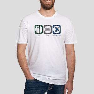 Eat Sleep Astrophysics Fitted T-Shirt