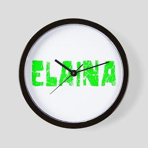 Elaina Faded (Green) Wall Clock