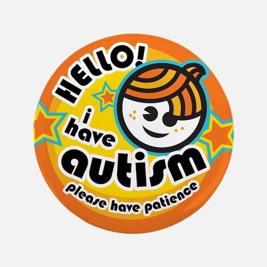 """Hello-Autism (Boy1) 3.5"""" Button"""