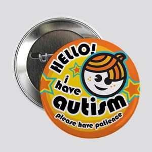 "Hello-Autism (Boy1) 2.25"" Button"