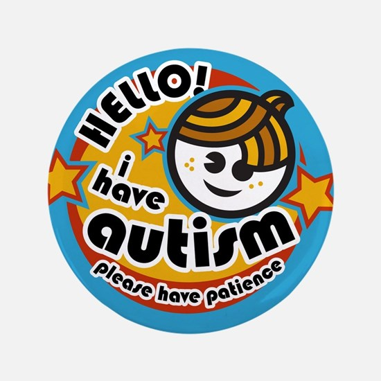"Hello-Autism (Boy2) 3.5"" Button"
