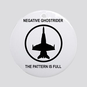 Negative Ghostrider Ornament (Round)