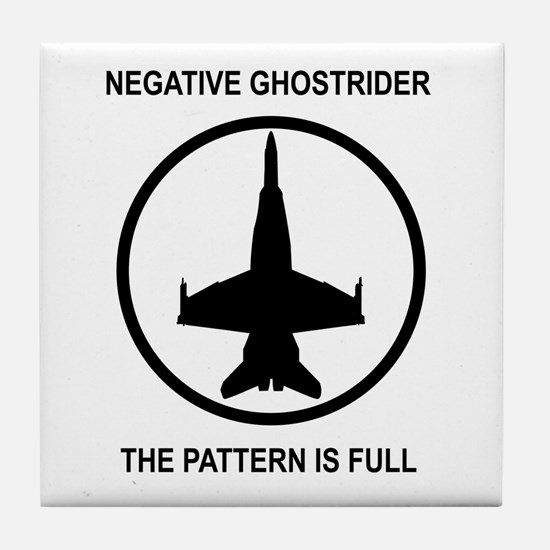 Negative Ghostrider Tile Coaster