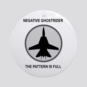 Negative Ghostrider The Patte Ornament (Round)