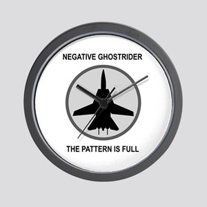 Negative Ghostrider The Patte Wall Clock