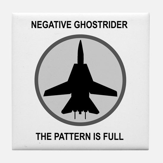 Negative Ghostrider The Patte Tile Coaster