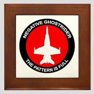 Negative Ghostrider The Patte Framed Tile