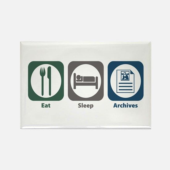 Eat Sleep Archives Rectangle Magnet (100 pack)