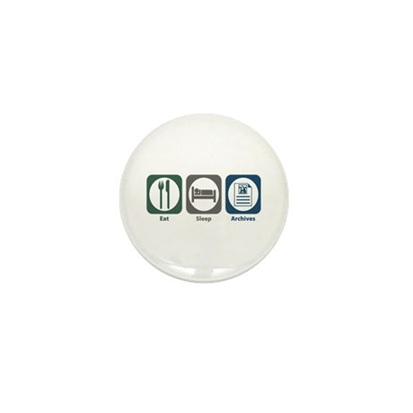 Eat Sleep Archives Mini Button (100 pack)
