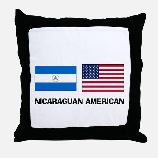 Nicaraguan American Throw Pillow