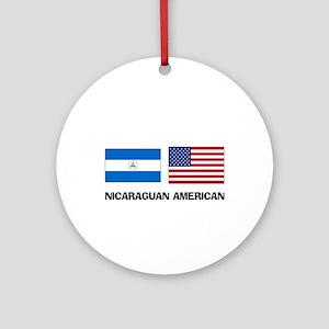 Nicaraguan American Ornament (Round)