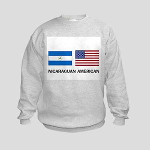 Nicaraguan American Kids Sweatshirt