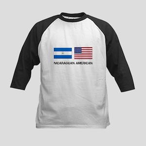 Nicaraguan American Kids Baseball Jersey