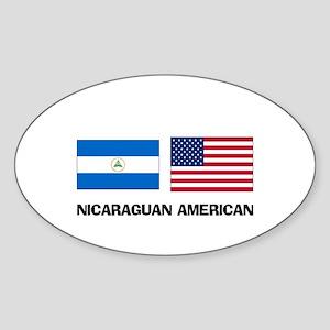 Nicaraguan American Oval Sticker