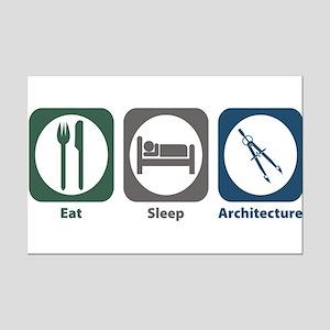 Eat Sleep Architecture Mini Poster Print