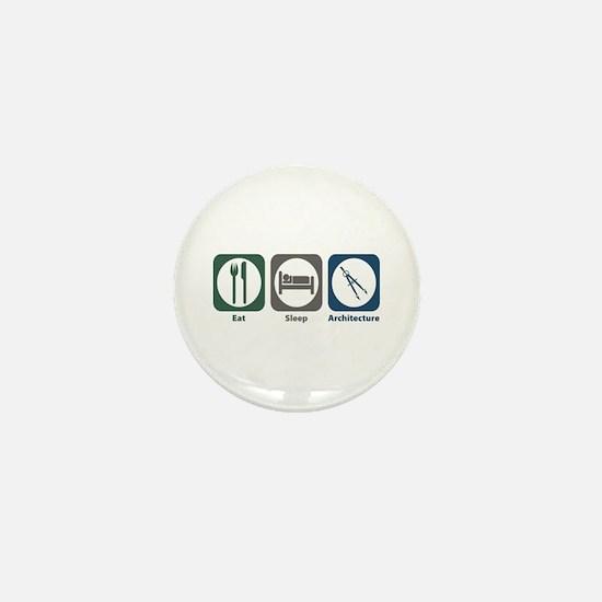 Eat Sleep Architecture Mini Button