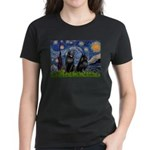 Starry / Schipperke Pair Women's Dark T-Shirt