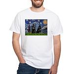 Starry / Schipperke Pair White T-Shirt
