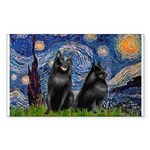Starry / Schipperke Pair Sticker (Rectangle)